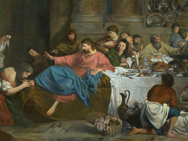 Christ at Supper with Simon graphic